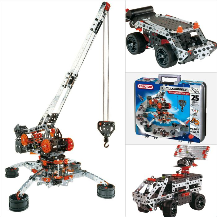 Erector sets make great gift ideas for an 11-year old boy who loves to build
