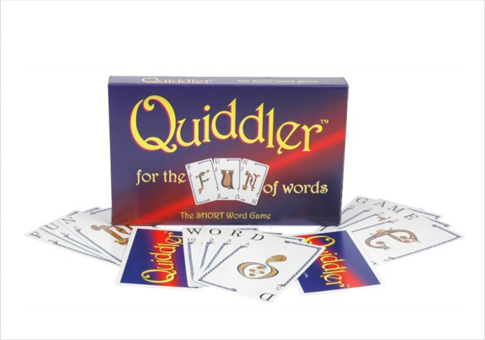 The Quiddler board game makes a great gift for eleven year old boys