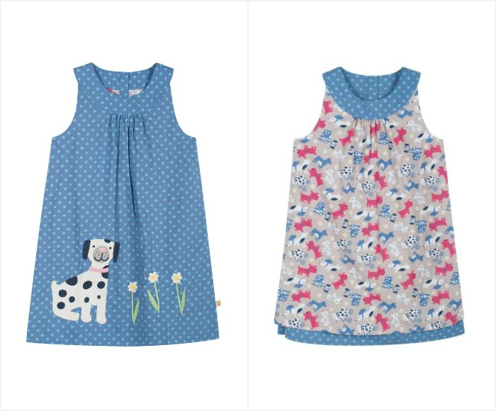 An organic cotton spring dress that's reversible. Swing by to check out the other SS15 springtime garms for girls | kidslovethisstuff.com