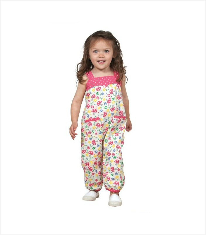 These spring dungarees are just the sweetest.  Swing by to check out the other SS15 springtime garms for girls | kidslovethisstuff.com