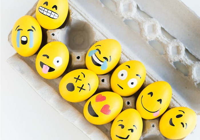 Easter Egg Craft How To Make The Cutest Emoji Easter Eggs