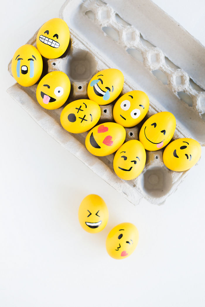 Easter Egg Craft How To Make The Cutest Emoji Eggs