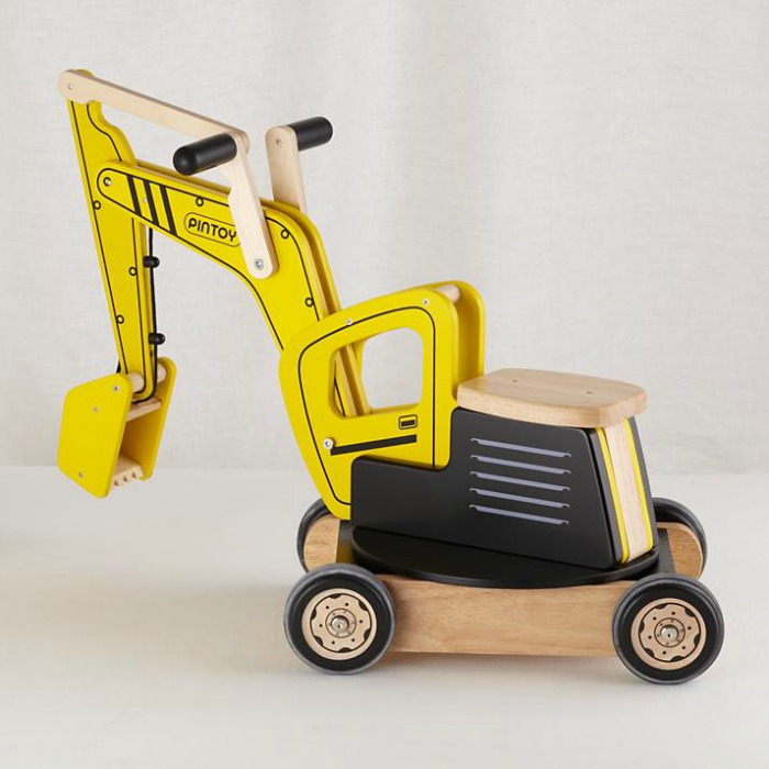 This excavator ride on is a fine choice for a toddler who's fixated on construction vehicles | Gift ideas for toddlers via kidslovethisstuff.com
