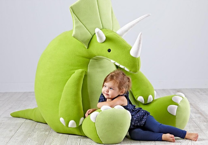 This oversized dinosaur plushie looks likes so cozy and snuggly | Gift ideas for preschoolers and toddlers via kidslovethisstuff.com