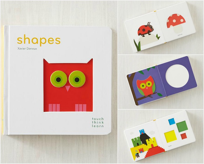 Shapes think touch learn board book: A great hands-on learning experience for 2 or 3 year olds | kidslovethisstuff.com
