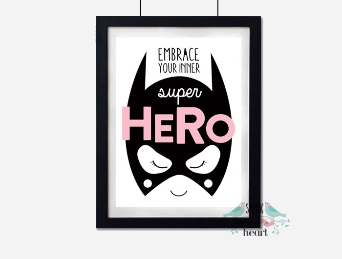 Batgirl superhero wall decor - embrace your inner superhero | kidslovethisstuff.com