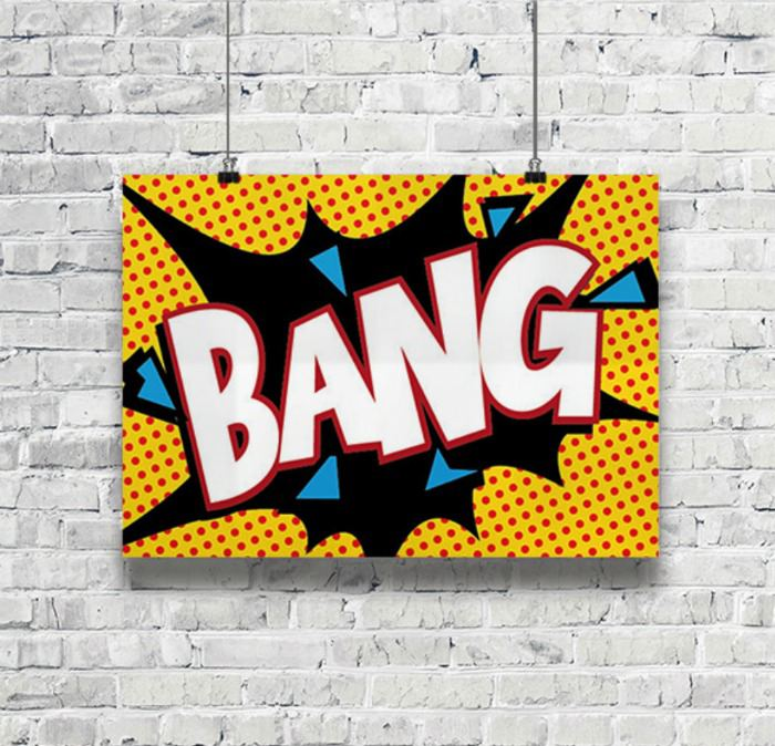 Modern pop culture superhero wall decor - would look great in the girls room | kidslovethisstuff.com