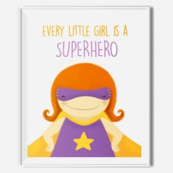 superhero wall decor - everygirl is a superhero FP