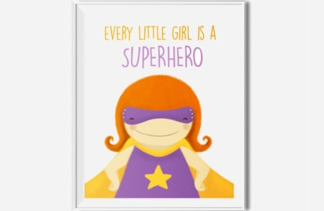 Wall Decor for Girls: 9 Fun & Confidence Boosting Superhero Art Prints