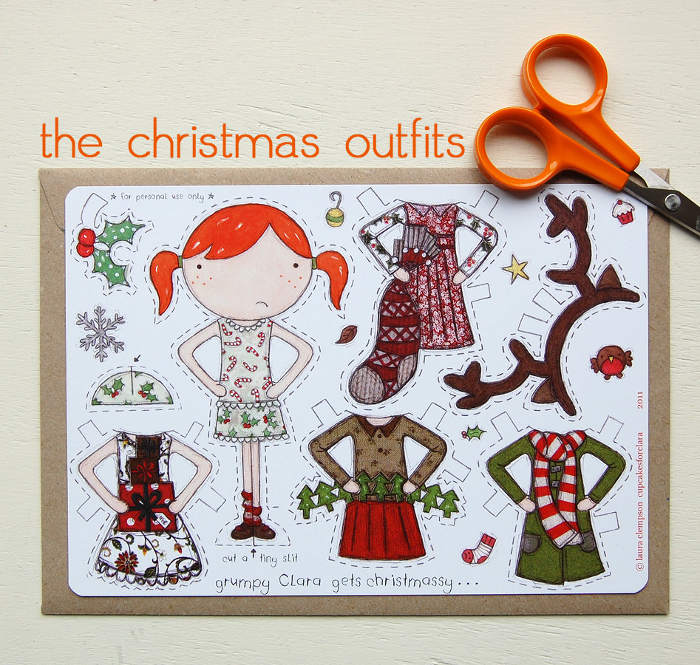 Adorable paper doll cutouts - an inexpensive gift idea for the littles   kidslovethisstuff.com