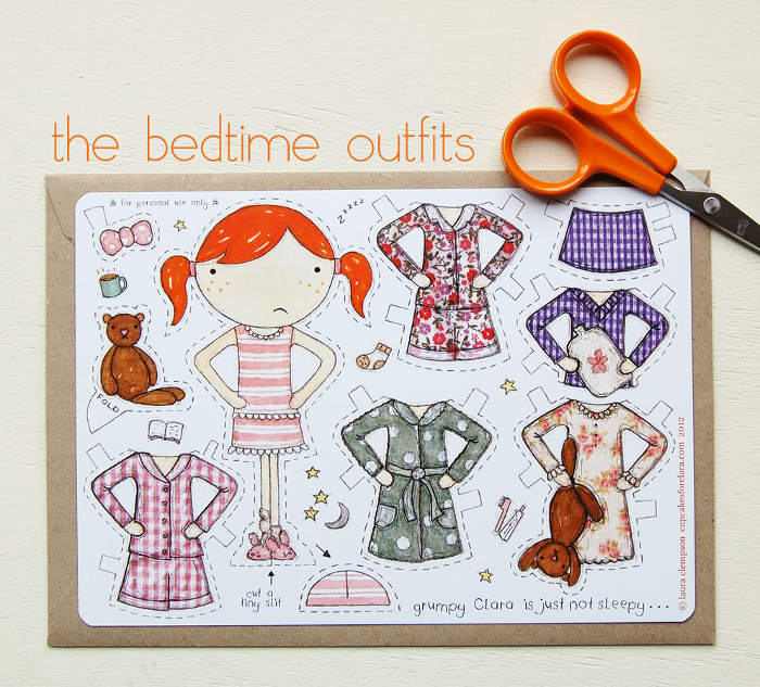 Adorable paper doll clothes cutouts - an inexpensive gift idea for the littles   kidslovethisstuff.com
