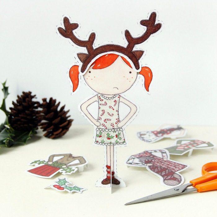 Adorable paper dolls - an inexpensive gift idea for the littles   kidslovethisstuff.com