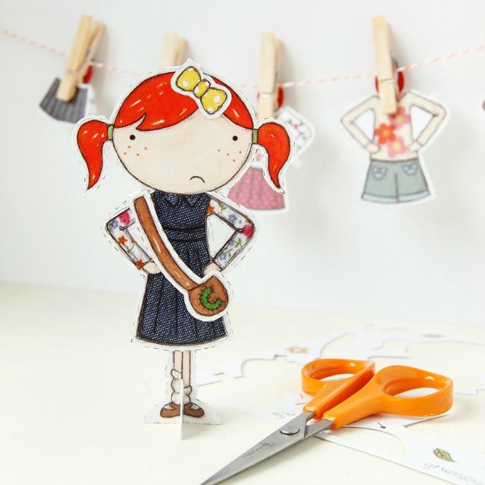 Adorable paper doll cut out sets - an inexpensive gift idea for the littles   kidslovethisstuff.com