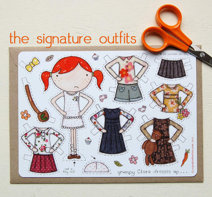 Adorable cut out paper dolls and paper dolls clothes sets - an inexpensive gift idea for the littles   kidslovethisstuff.com