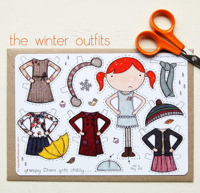 Adorable cutout paper dolls - an inexpensive gift idea for the littles   kidslovethisstuff.com