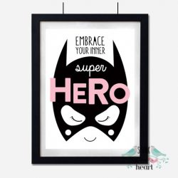 Wall Decor for Girls: 10 Fun & Confidence Boosting Superhero Art Prints