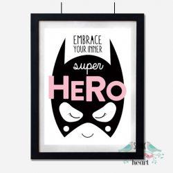 Wall Decor for Girls: 10 Fun & Confidence Boosting Superhero Art Prints