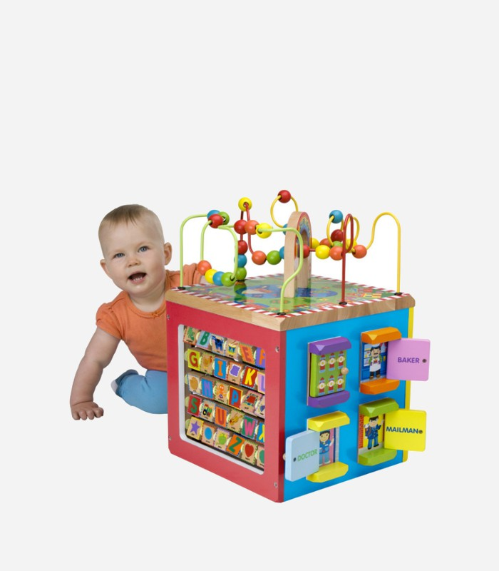 best wooden toys for 1 year old - wooden activity cube-2 ...