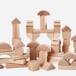 best wooden toys for 1 year old - wooden block set FP