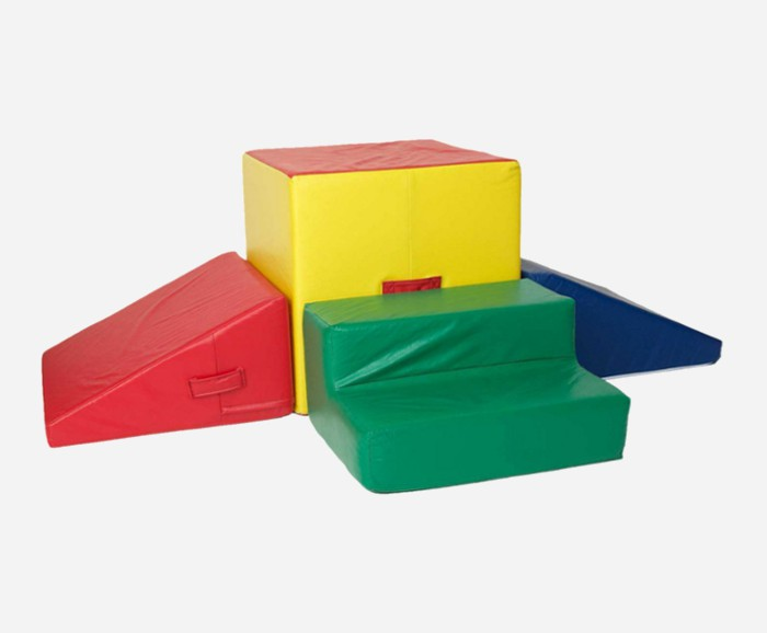 Soft play foams like these make fun and safe climbing toys for toddlers and preschoolers.
