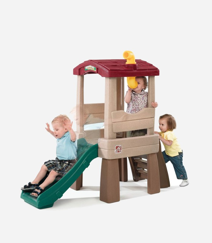 Here's a fun tree house for little ones who love to climb | Climbing toys for toddlers  and preschoolers