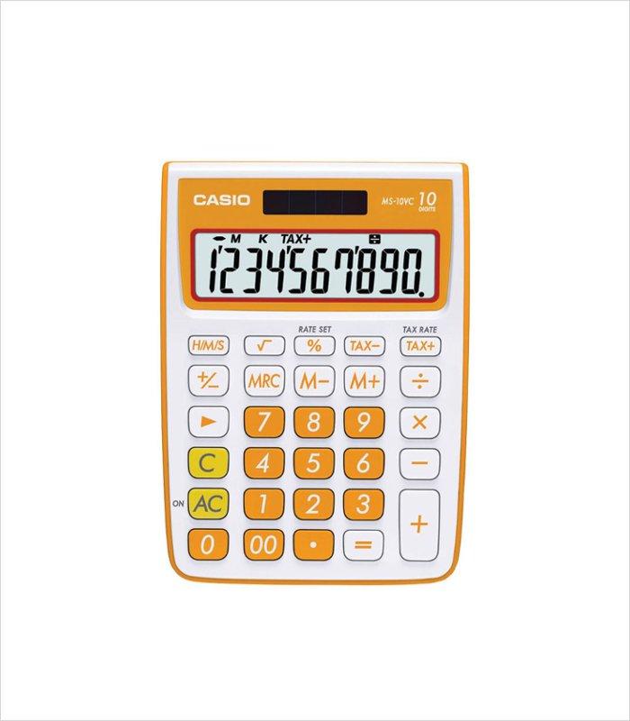 Casio calculator in bright orange   A Cool Back to School Accessory for Kids