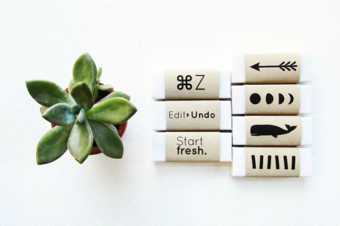 Latex free erasers. a cool back to school gift for a picky arts student | Back to School Accessories