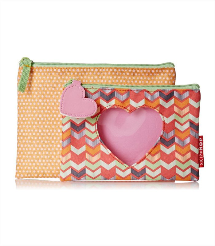 Skip Hop Forget Me Not cases:  With pretty cut out designs that make it easier to see into them