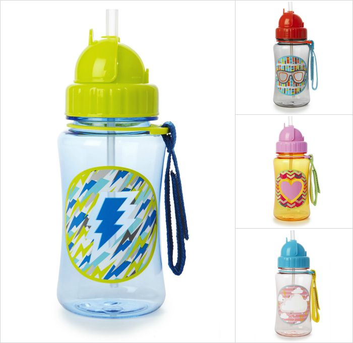 Skip Hop Forget Me Not water bottles: You'll be thankful for the handy strap that the kiddos can attach to their school bags