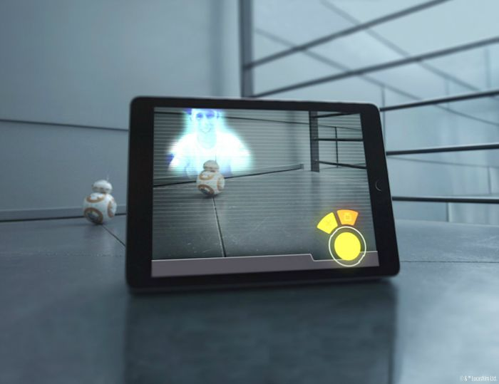 bb-8 star wars droid hologram messaging
