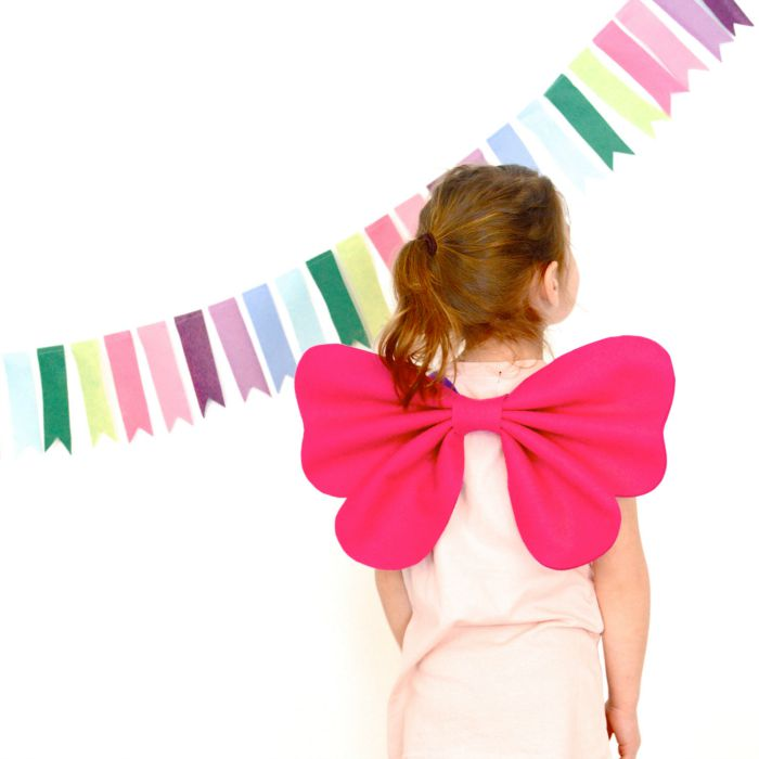 Dress up clothes for kids: A pair of beautiful butterfly wings can be worn anytime.