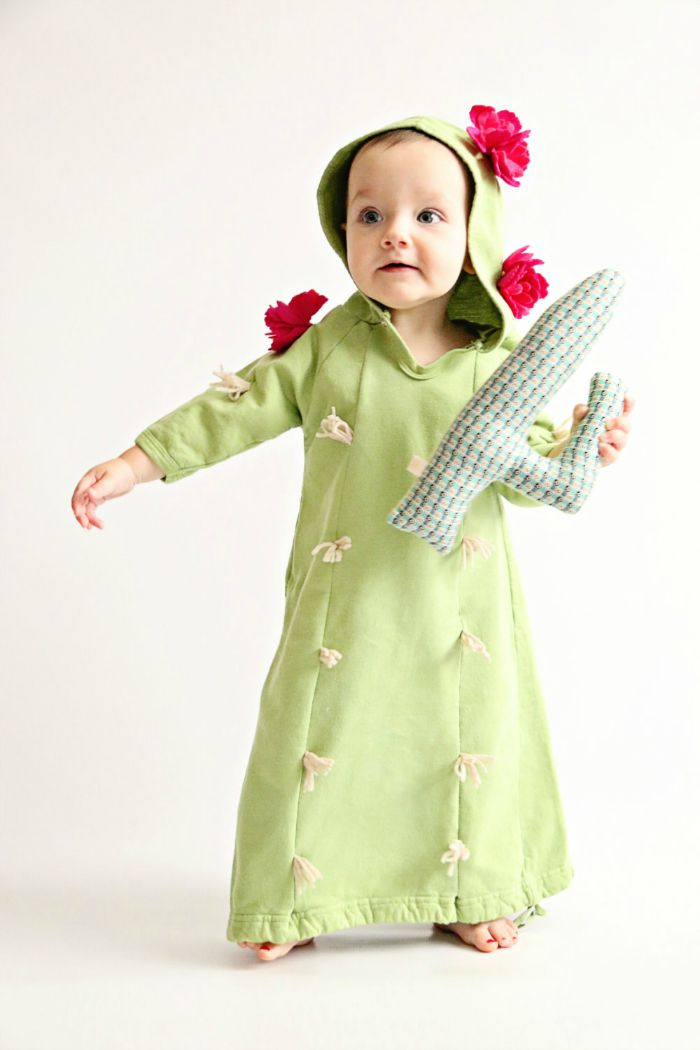 Dress up ideas for kids: Transform your tot into prickly desert flora with this adorable cactus costume.