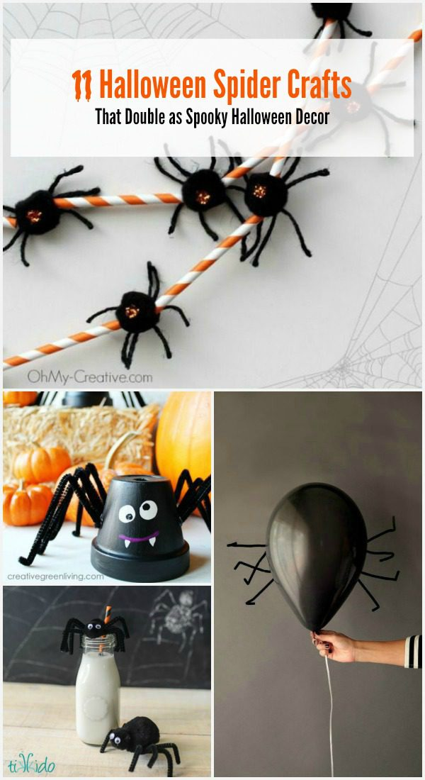 11 Halloween spider crafts for kids that double as Halloween decor