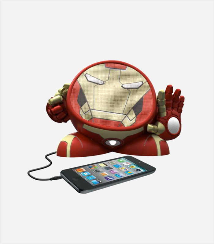 Gift ideas for 10 year olds - Avengers Iron Man rechargeable character clock