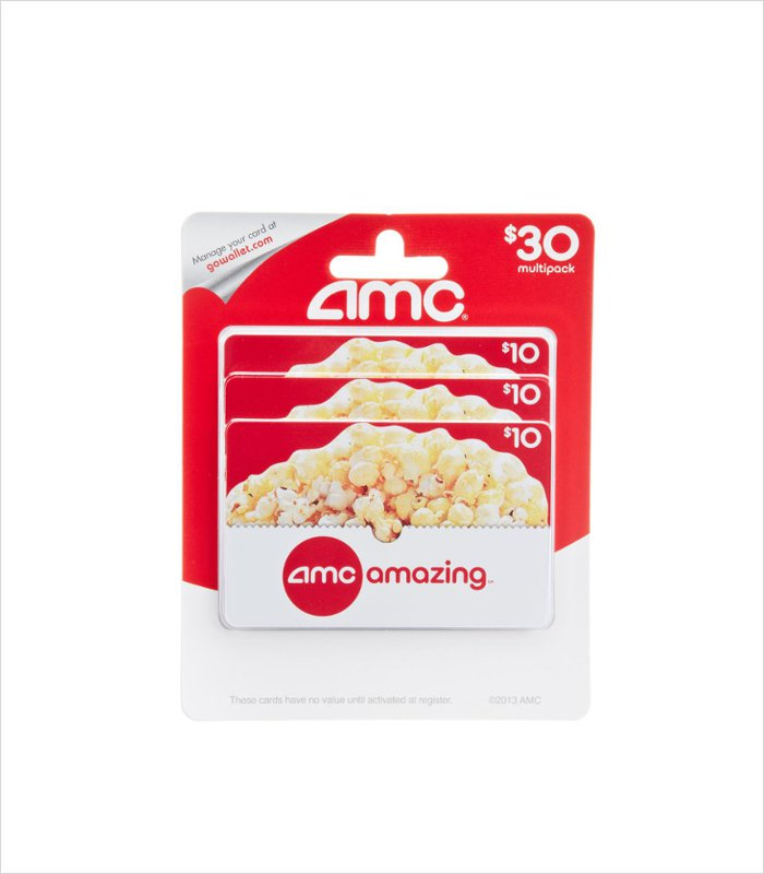 Gift ideas for 13 years old - AMC theatre gift card