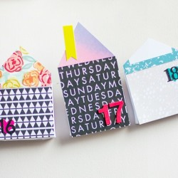 DIY advent calendar - paper houses advent calendar - FP