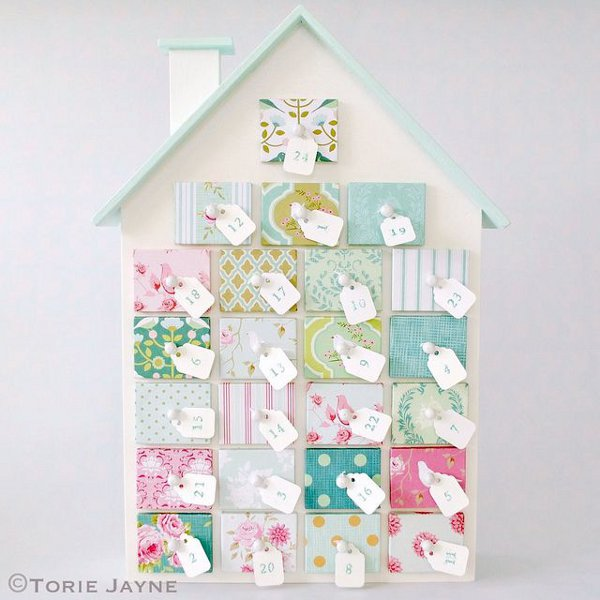 How many sleeps left until Christmas? 11 stylish DIY advent calendars to help you start the countdown the Christmas. Winter wonderland advent house via Torie Jayne.