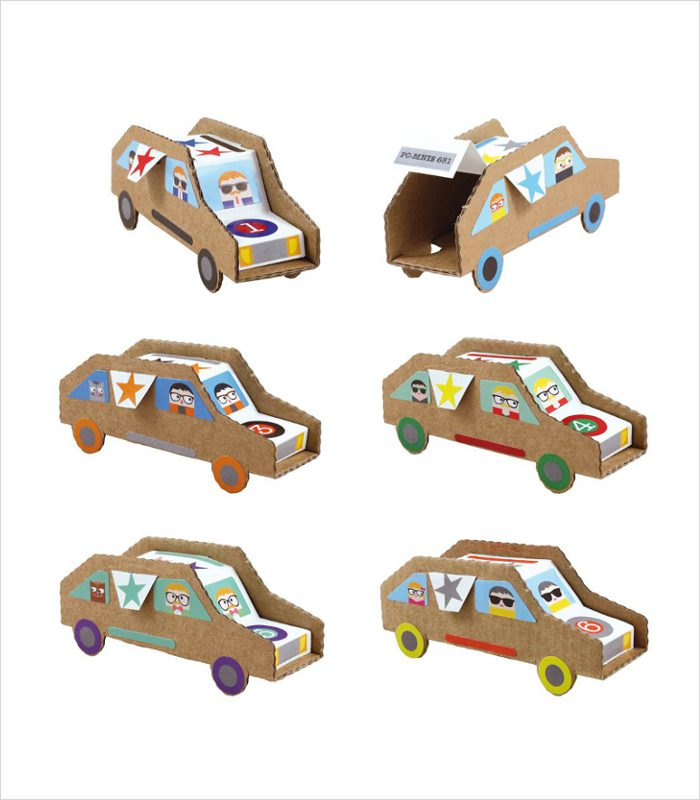 Because cardboard toys are awesome | Gift ideas for 5 year olds - Cardboard car kits