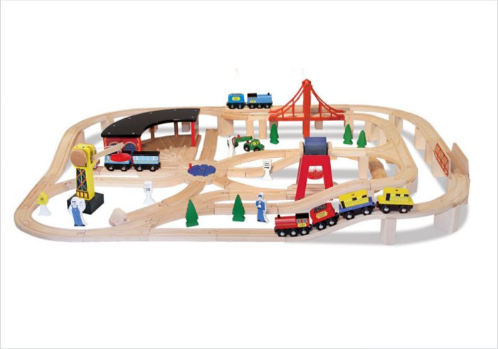 Gift ideas for 5 year olds - Melissa and Doug deluxe wooden railway set