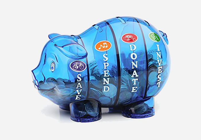 Gift ideas for 5 year olds - Money piggy bank