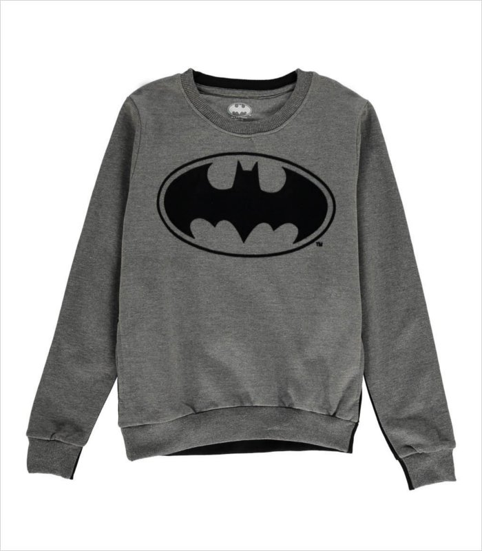 Gifts for 8 year olds - Bilogo sweatshirt featuring the Batmen emblem