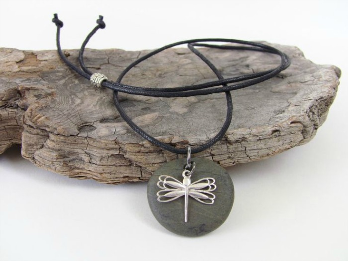 A gift idea for an 8 year old boy or girl - Dragonfly necklace and charm