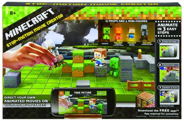 Christmas gift ideas for an 8 year old - Minecraft stop motion animation studio