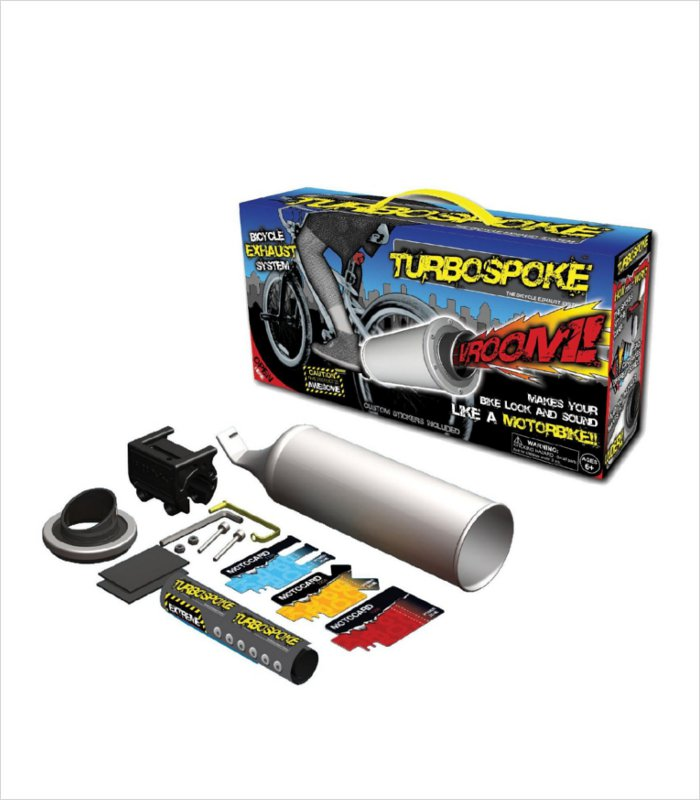Gifts that 8 year olds would like - Turbospoke bicycle exhaust system