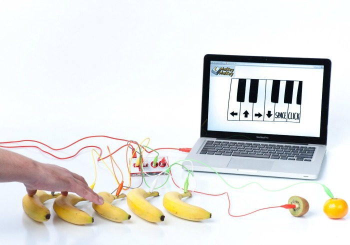 Looking for a gift for a 9 year old wannabe inventor? This Makey Makey kit is the perfect platform for bringing the kookiest inventions to life.