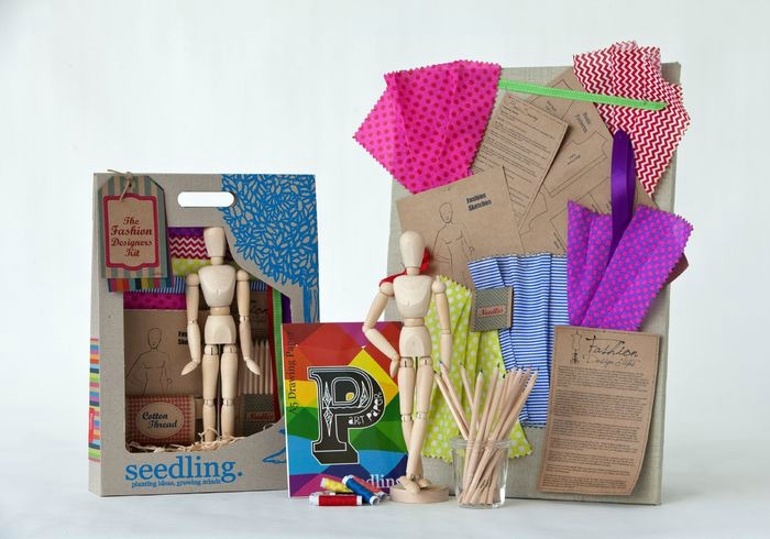 9 year old gift ideas | Seedling fashion designer kit - for the kid who's showing an early interest in all things fashion and design.