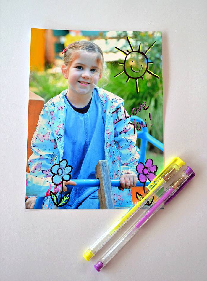 Make a personalized popsicle stick puzzle photo - step 1