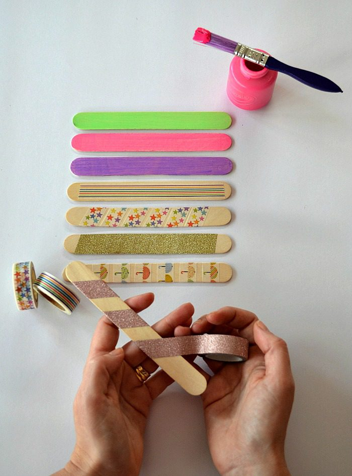 Make a personalized popsicle stick puzzle photo - step 2