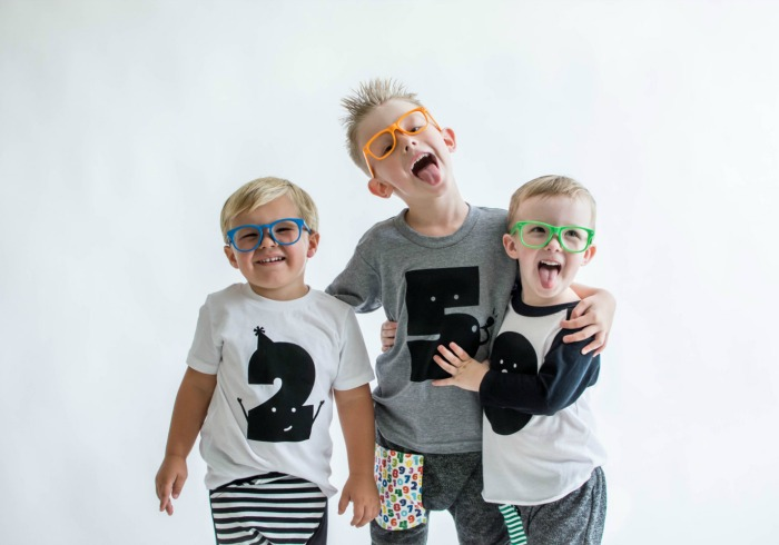 An adorable collection of toddler birthday shirts (well, they actually go up to age 6). Plus they're unisex too.