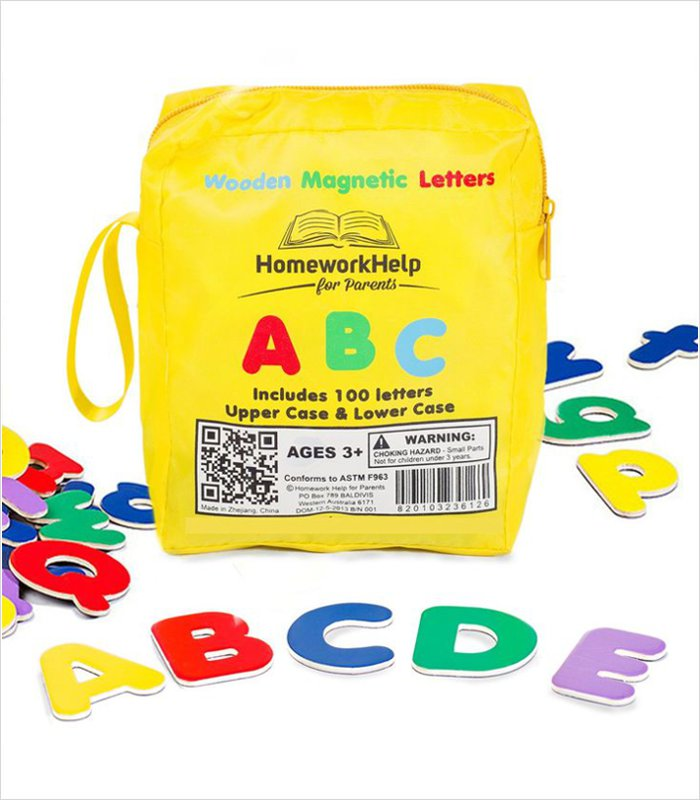 14 cool birthday and christmas gifts for 3 year olds for Magnetic letters for 1 year old